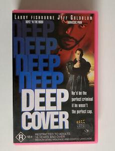 Deep Cover [VHS] Video Box Office 1992 Ex-Rental Tape Fishburne Goldblum VGC!