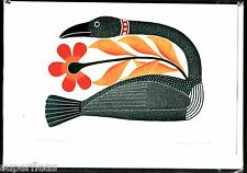 New • Kenojuak Ashevak Inuit artist 1927 - 2013 • ART CARD • Floral Passage 2007
