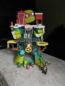 PLAYMATES Teenage Mutant Ninja Turtles HALF SHELL HEADQUARTERS 65cm + FIGURES