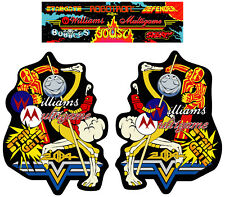 Multi Williams Arcade Side Art Arcade Cabinet Graphics For Reproduction Marquee