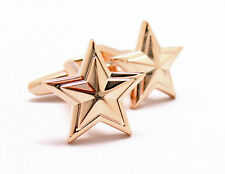 Rose Gold Prismatic Star Cufflinks Cuff Links Free Same Day Shipping New in Box