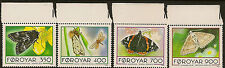 FAROE ISLANDS  : 1993 Butterflies and Moths set SG245-8 unmounted mint