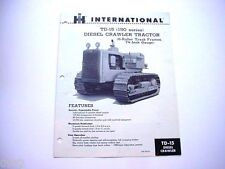 International TD-15 Crawler Tractor Sales Brochure *