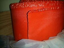"WILSON Weld-O-Glass Welding Blanket 60"" by the yard  Red Neoprene Fiberglass"