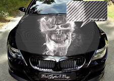 Skull Hood Full Color Graphics Adhesive Vinyl Sticker Wrap Decal Fit any Car 140