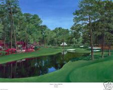 "Augusta National Golf Club Hole 16 ""Red Bud "" Giclee ,  Lim.Ed. 16x20"