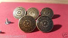 New Trend! 5 x 20mm Press/Hammer On Bronze Dark Brass Denim Jeans Buttons & Pins