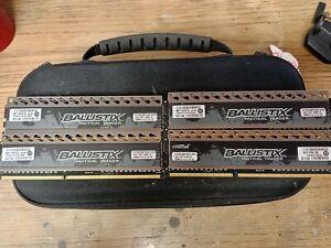 16 GB Ballistix Tactical Tracer 1600MHZ DDR3 8-8-8-24 1.5v Green/Red LED lot
