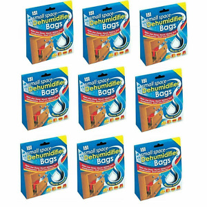 151 Small Space Dehumidifier Bags 2 Sachets Stop Damp Mould Helps 2, 4,6,8.