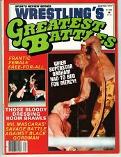 WRESTLINGS GREATEST BATTLES WINTER 1977 SUPERSTAR GRAHAM DUSTY RHODES VON ERICH