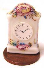 SCALA 1:12 non funzionante orologio mensola Floreale Bianco Casa delle Bambole Accessorio in miniatura