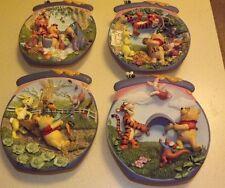 Lot of 4 - Disney Winnie The Pooh Bradford Exchange 3D Collector Plates