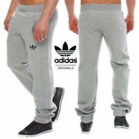 Adidas Men's SPO Sweatpants Fleece Tracksuit Trousers Grey Bottoms RRP £50!!