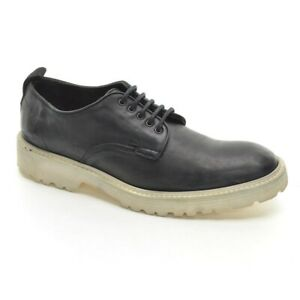 Men Rag & Bone Plain Toe Sneakers Oxfords 42 / 9 Black Leather Lace Up Shoes New
