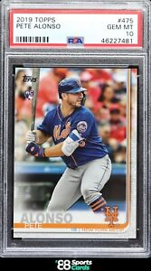 "2019 Pete Alonso Topps Series 2 #475 RC Rookie - PSA 10 ""GEM MINT"""
