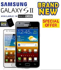 Nagelneu Samsung Galaxy s2-i9100 16gb Weiß Schwarz Entsperrt Android Smartphone