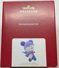 Hallmark 2021 Granddaughter Snowman Christmas Ornament New with Box