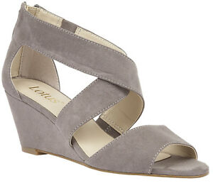 Lotus Cheeney Grey Ladies Casual Wedge SandalUK Size 3, 4