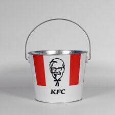 KFC BUCKET STEEL KENTUCKY FRIED CHICKEN VINTAGE RED RARE NEW