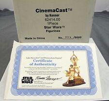 Cinema Cast Star Wars Luke Skywalker And Princess Leia Statue Figurines COA NEW