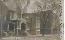 M. E. Church and Y M C A Pittston PA RPPC Vintage Real Photo [W J Harris] 1908