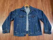 Vintage Lee Riders 101-J Denim Jacket Size M Union Made in USA PATD-153438
