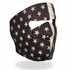 Black Grey USA American Flag Neoprene Full Face Mask ATV Ski Biker Reversible