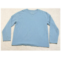 Champion Light Blue Crewneck Tee T-Shirt Top Cotton Spandex Man Solid Size Large