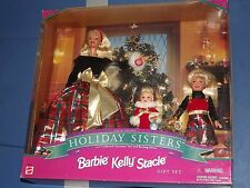 1998 MATTEL BARBIE 19809 HOLIDAY SISTERS BARBIE STACIE KELLY SPECIAL MINT IN BOX