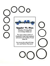 Spyder TL Plus Paintball Marker O-ring Oring Kit x 2 rebuilds / kits