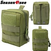 Military Tactical MOLLE Utility Accessory Tool Pouch Bag for Backpack Vest OD