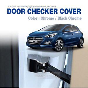 Door Checker Chrome Cover Molding 4P Set for HYUNDAI 2013-2016 Elantra GT