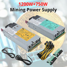 700W 1200W 1950W PSU Mining Power Supply Bitcoin For Antminer S9 D3 L3+ S7 T9 WF