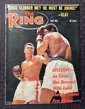 1967 May THE RING Boxing Magazine VG+ 4.5 Muhammad Ali - Joe Louis