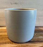 "Vintage Celadon Green Zanesville Stoneware Planter 6.75"" Tall"