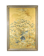 Chinese 19thC Qing Dynasty Framed Silk Panel Suzhou