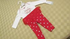 NWT Carter's Girls Infant Two-Piece Outfit Size 9 Months Christmas