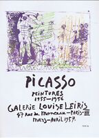 Pablo Picasso,Galerie Louise Leiris 1957 Vintage Poster Offset Lithograph 1964