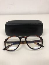 KIRK ORIGINALS BROWN TURTLE SHELL MADE IN ITALY CLEAR LENS FRAME 240246
