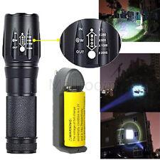 Tactical 5000LM XM-L T6 LED Zoom Lampe de poche Lampe torche Clair lampe+26650+