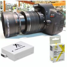 58mm Wide Angle Macro Lens +  BATTERY LP-E8 For Canon Eos Rebel  T3i T4I T5 T5I