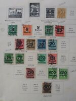 Germany: 17 Diff. Used Issues of 1923, #239 / 265, Scott Catalog Value $ 60.15