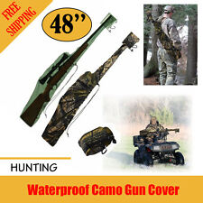 "Hunter Waterproof Camo Gun Cover Fast Attached Gun Sock 48"" Rifle Shotgun Bag"