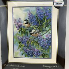 Dimensions Gold Chickadees & Lilacs 12 x 16 Counted Cross Stitch Kit 35258 New