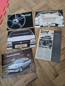 VAUXHALL CHEVETTE Viva CAVALIER Carlton ROYALE Sales Brochure circa 1978 job lot
