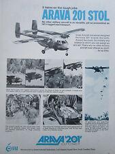 4/1972 PUB IAI ISRAEL AIRCRAFT ARAVA 201 STOL JEEP PARATROOPERS ORIGINAL AD