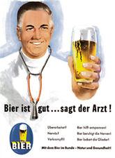 Bier ist gut sagt der Arzt Magnet 6x8 cm Kraftmagnet Kühlschrankmagnet PC301/214