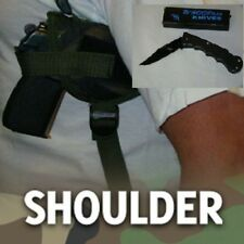 SHOULDER GUN HOLSTER, BERSA THUNDER 380, CAMO, W/ FREE FOLDING KNIFE, 206C
