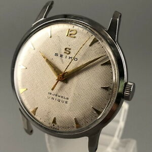 OH serviced, Vintage 1957 SEIKO UNIQUE 15Jewel Hand-winding Watch from Japan#510