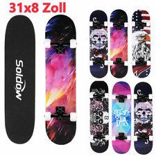 Skateboard 31''Cruiser Funboard Komplette Ahornholz Longboard Kinder ABEC7 Deck